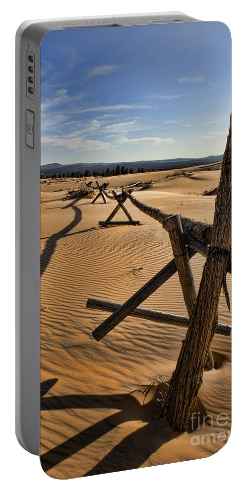 Coral Pink Sand Dunes Portable Battery Charger featuring the photograph Sand by Heather Applegate