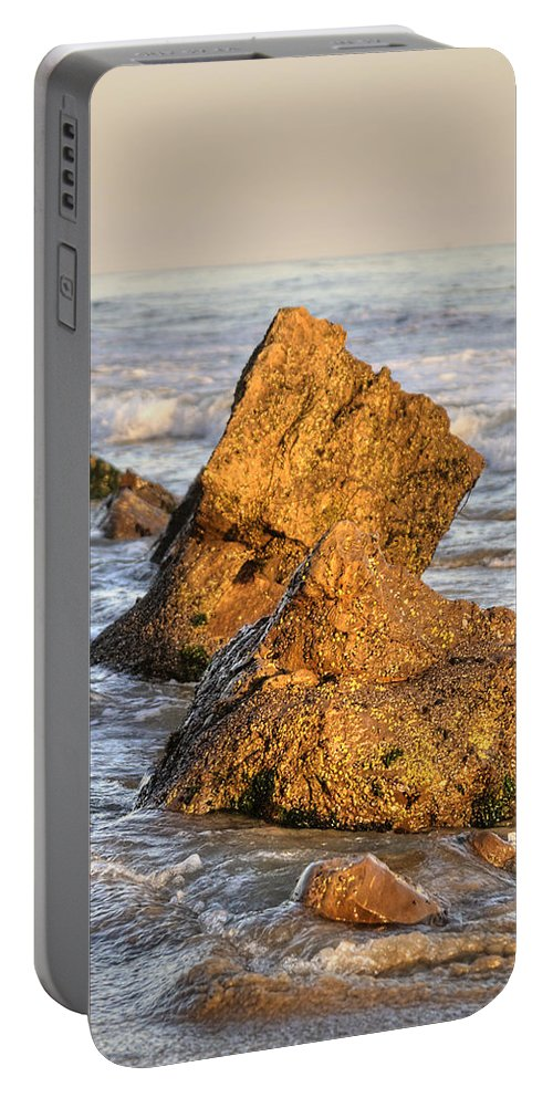 Rocks Portable Battery Charger featuring the photograph Santa Barbara 12 by Jessica Velasco