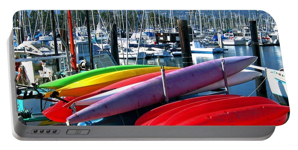 Santa Barbara Portable Battery Charger featuring the photograph Santa Barbara Harbor by Jerome Stumphauzer