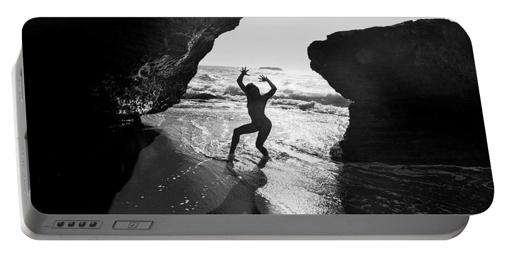 Nude Portable Battery Charger featuring the photograph Santa Cruz Nude by Mike Penney