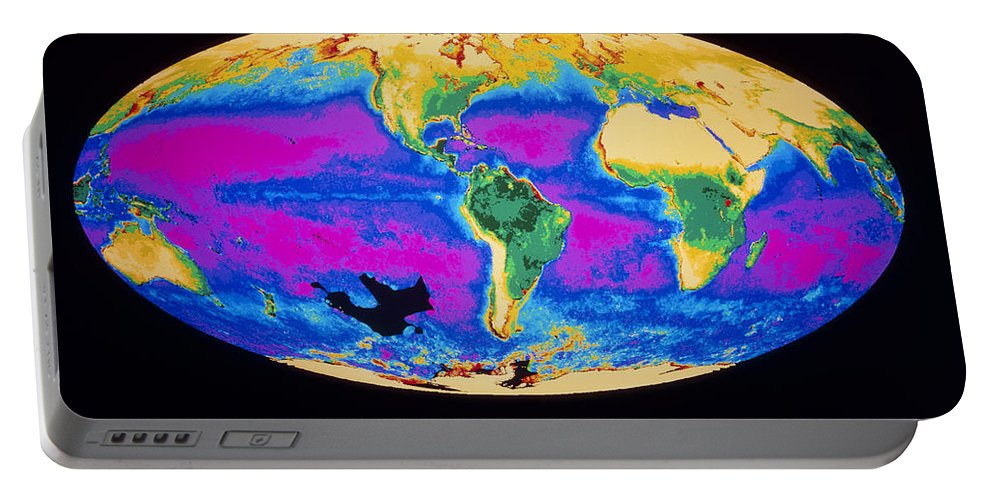 Biosphere Portable Battery Charger featuring the photograph Satellite Image Of The Earths Biosphere by Dr. Gene Feldman, NASA Goddard Space Flight Center