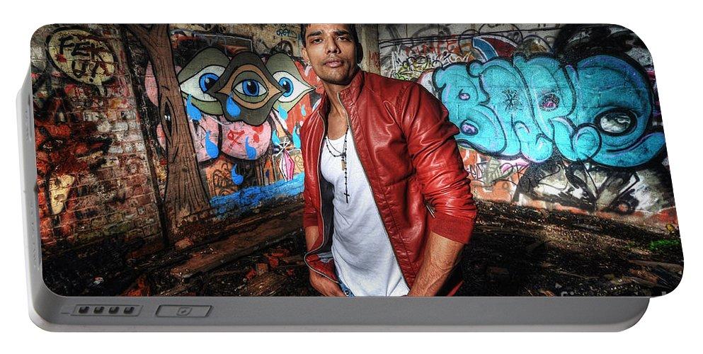 Yhun Suarez Portable Battery Charger featuring the photograph Saurabh4 by Yhun Suarez