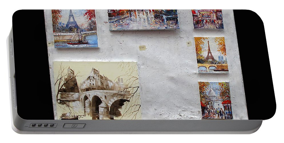 Art Portable Battery Charger featuring the photograph Scenes Of Paris For Sale by Dave Mills