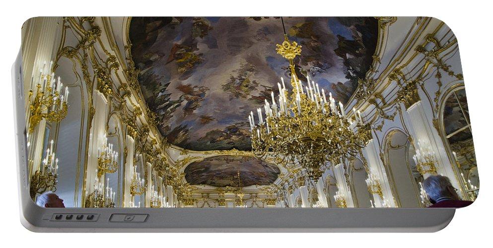 Schonbrunn Palace Portable Battery Charger featuring the photograph Schonbrunn Palace - Vienna by Jon Berghoff