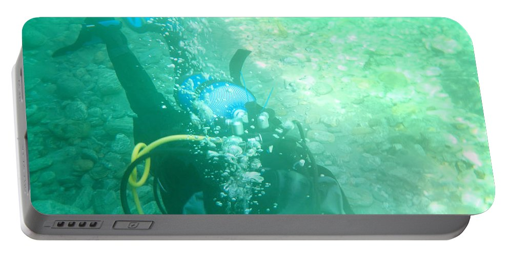 Scuba Diving Portable Battery Charger featuring the photograph Scuba Diving by Mats Silvan