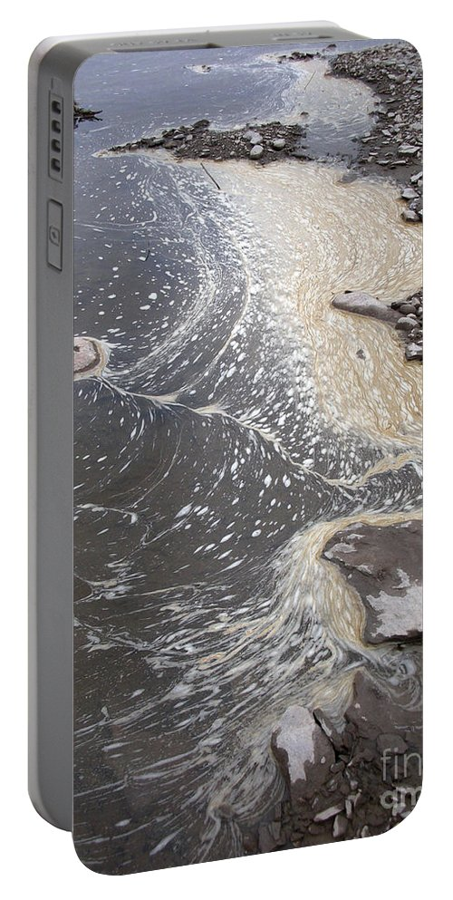 Sea Portable Battery Charger featuring the photograph Sea Foam And Algae by Ted Kinsman