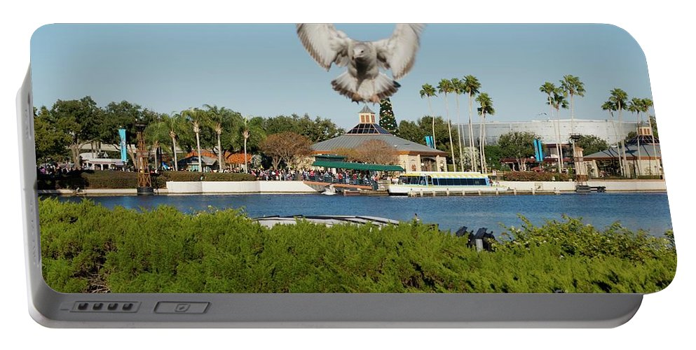 Animals Portable Battery Charger featuring the photograph Sea Gull With Full Flaps by Thomas Woolworth