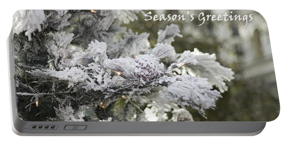 Seasons Greeting Portable Battery Charger featuring the photograph Seasons Greeting V4 by Douglas Barnard