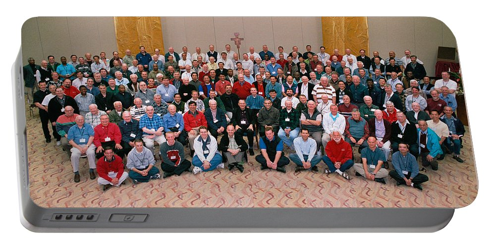 Seattle Archdiocese 2008 Priests. Portable Battery Charger featuring the photograph Seattle Archdiocese 2008 Priests. by Mike Penney