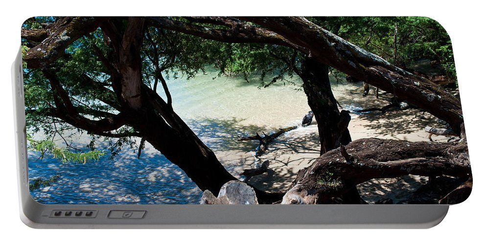 Interior Design Portable Battery Charger featuring the photograph Secluded Beach by Paulette B Wright