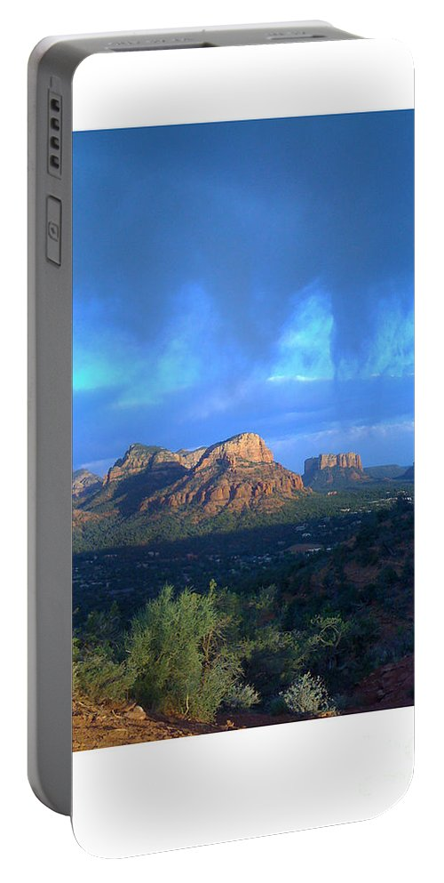 Sedona Clouds Portable Battery Charger featuring the photograph Sedona Clouds by Nina Prommer