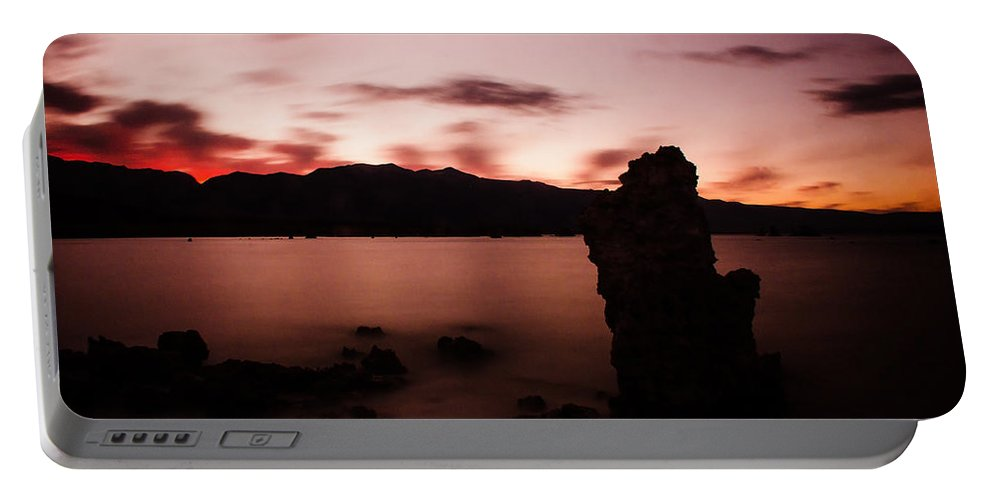 Mono Lake Portable Battery Charger featuring the photograph Sentinel Of Mono Lake by La Rae Roberts