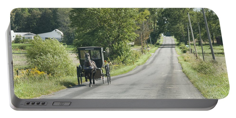 Amish Portable Battery Charger featuring the photograph September Roads by David Arment