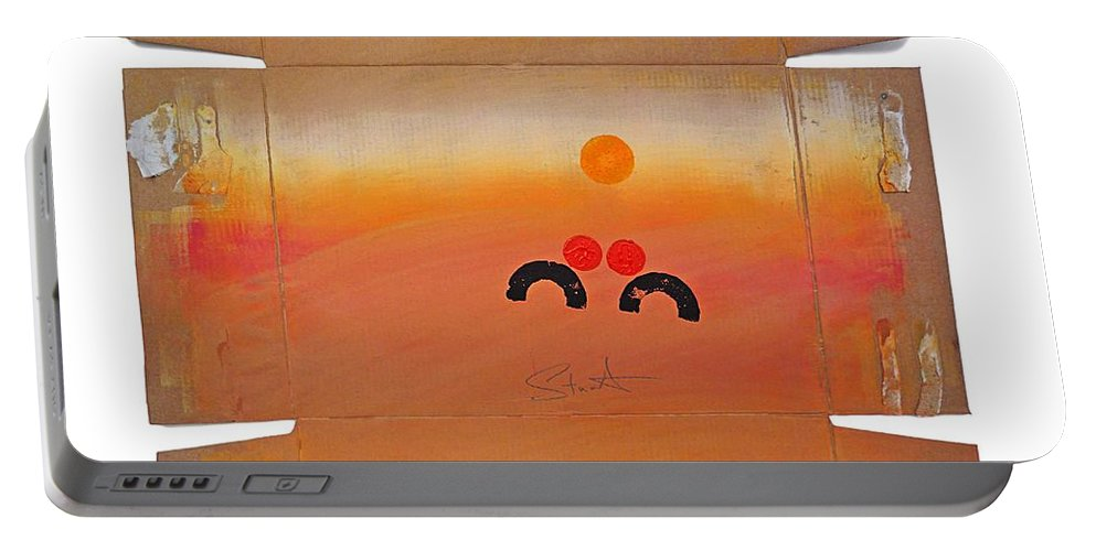 Serengeti Portable Battery Charger featuring the painting Serengeti Image by Charles Stuart