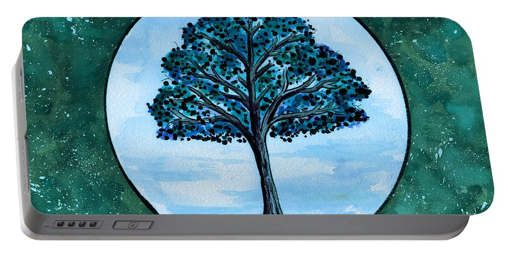 Landscape Portable Battery Charger featuring the painting Serenity by Brenda Owen