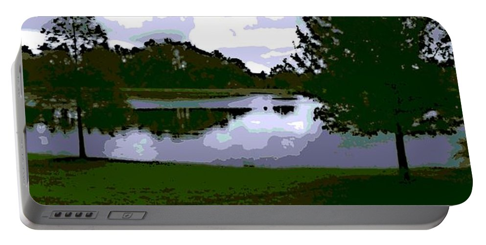 Serenity Lake Portable Battery Charger featuring the photograph Serenity Lake 4 by George Pedro