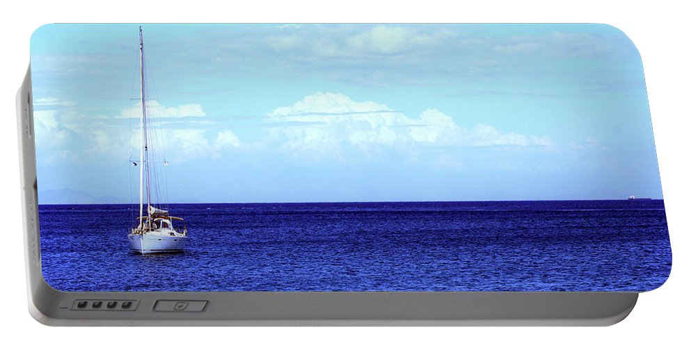 Boat Portable Battery Charger featuring the photograph Setting Sail by La Dolce Vita