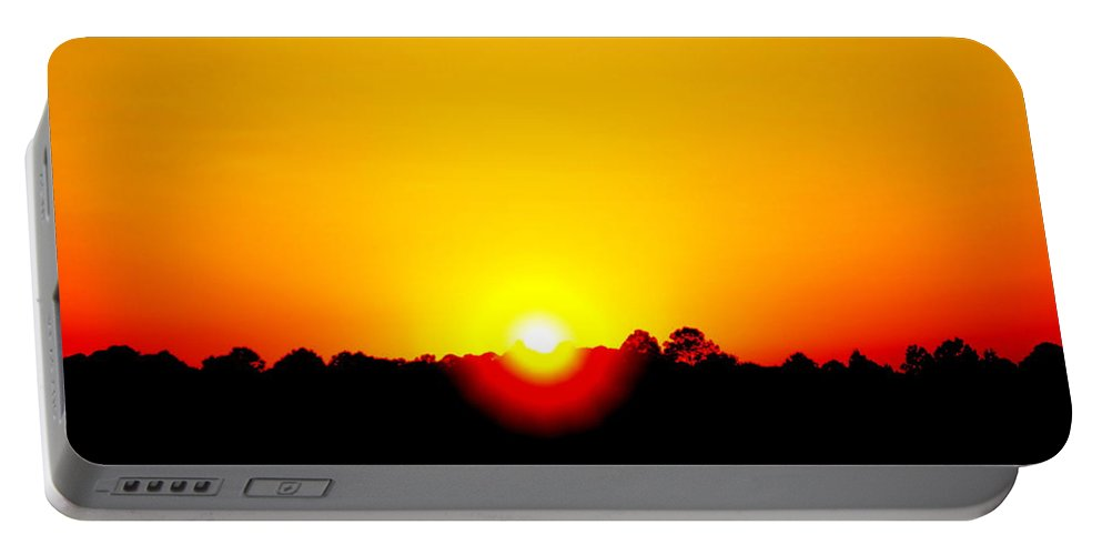 Sun Portable Battery Charger featuring the photograph Setting Sun by Paul Wilford
