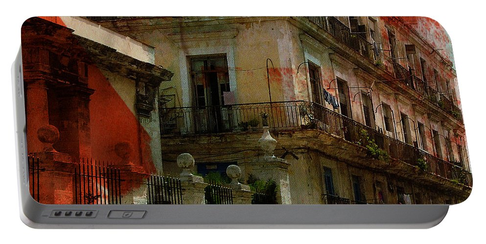 Cuba Portable Battery Charger featuring the photograph Seven Street by The Artist Project
