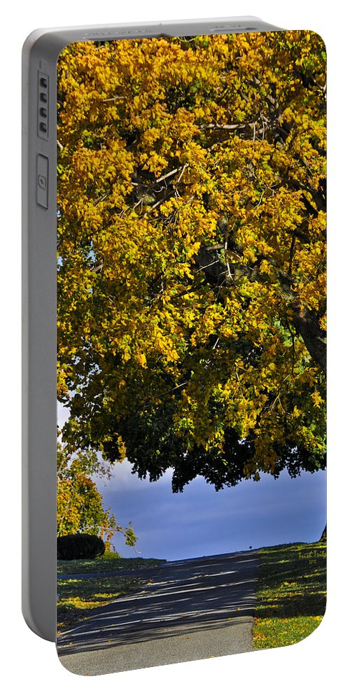 Cemetery Portable Battery Charger featuring the photograph Shadow On The Edge by Trish Tritz