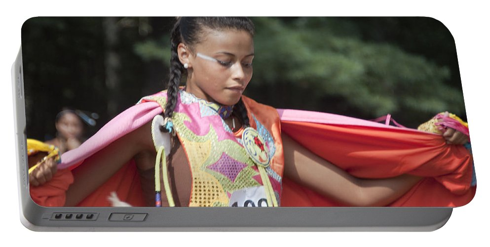 Photography Portable Battery Charger featuring the photograph Shawl Dancer 109 by Steven Natanson