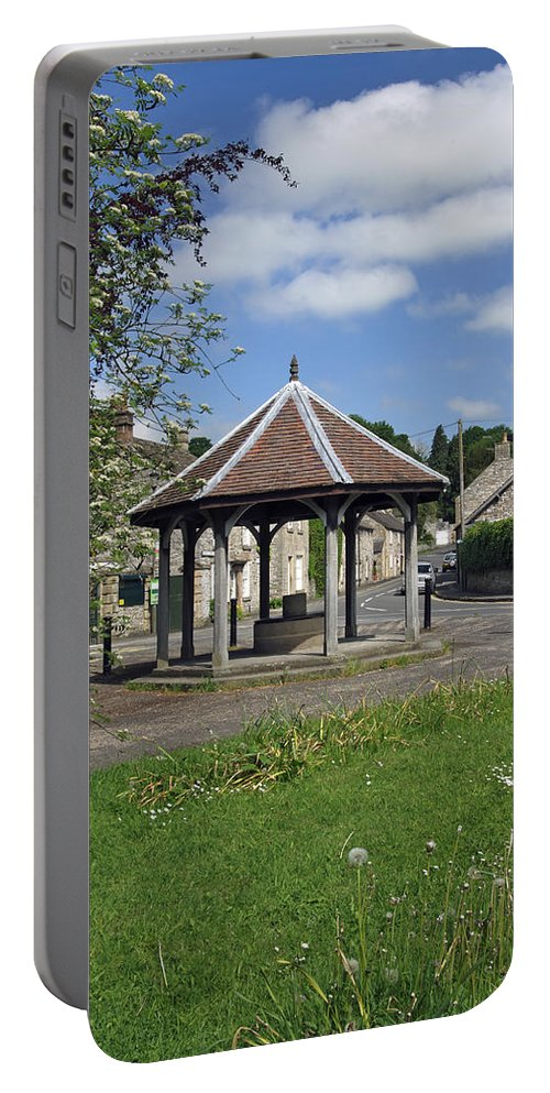 Derbyshire Portable Battery Charger featuring the photograph Sheepwash Well - Ashford-in-the-water by Rod Johnson