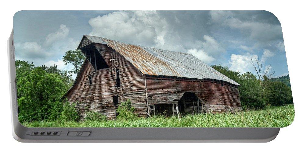 Barn Portable Battery Charger featuring the photograph Shingle Barn 1 by Douglas Barnett