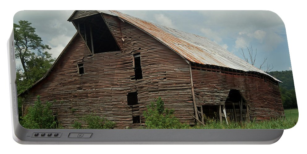 Barn Portable Battery Charger featuring the photograph Shingle Barn 2 by Douglas Barnett