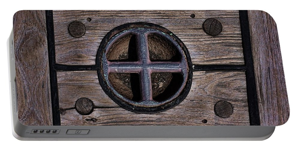 Wooden Portable Battery Charger featuring the photograph Ships Floor by Alan Hutchins
