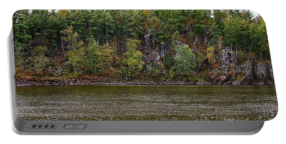 Landscape Portable Battery Charger featuring the photograph Shoreline Cliffs by Susan Herber