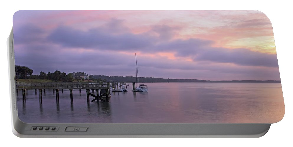 Beaufort County Portable Battery Charger featuring the photograph Shoreline by Phill Doherty
