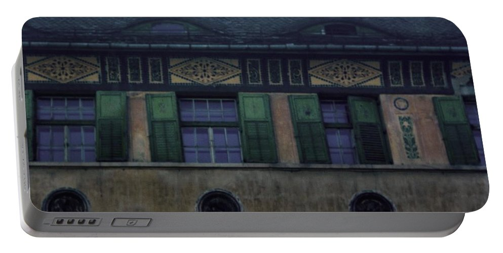 Sighisoara Portable Battery Charger featuring the photograph Sighisoara Old Town Eyes by Amalia Suruceanu