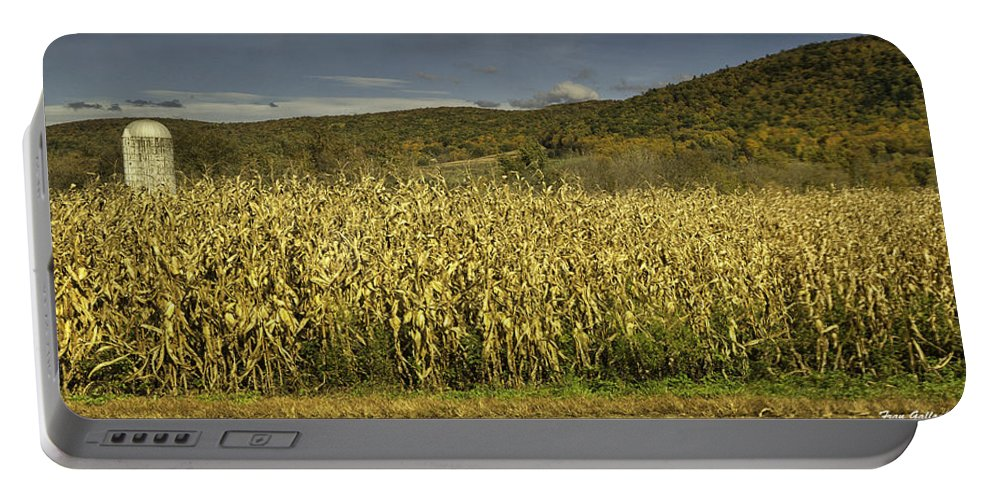 Landscape Portable Battery Charger featuring the photograph Silo Panorama by Fran Gallogly