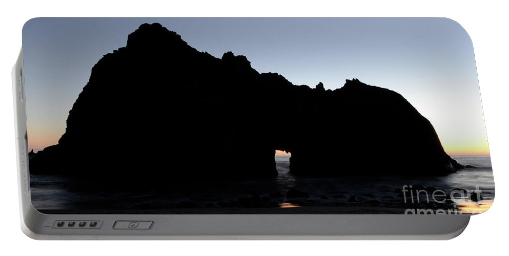 Pfeiffer Rock Portable Battery Charger featuring the photograph Silouette Pfeiffer Rock by Bob Christopher