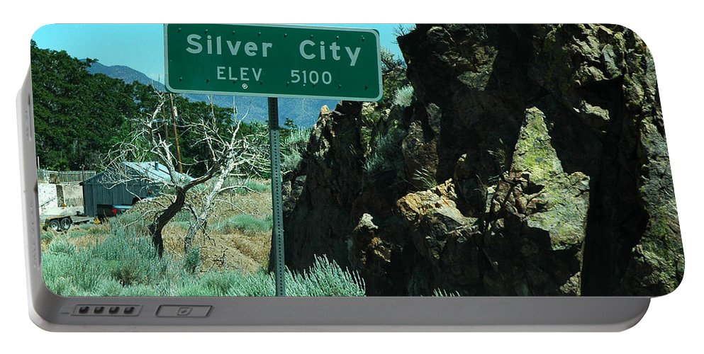 Usa Portable Battery Charger featuring the photograph Silver City Nevada by LeeAnn McLaneGoetz McLaneGoetzStudioLLCcom