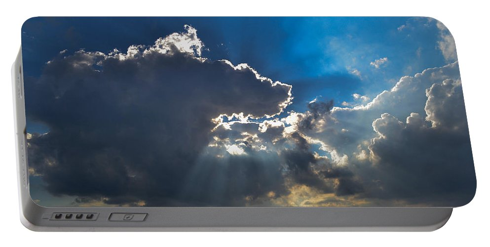 Clouds Portable Battery Charger featuring the photograph Silver Lining by Wanda J King