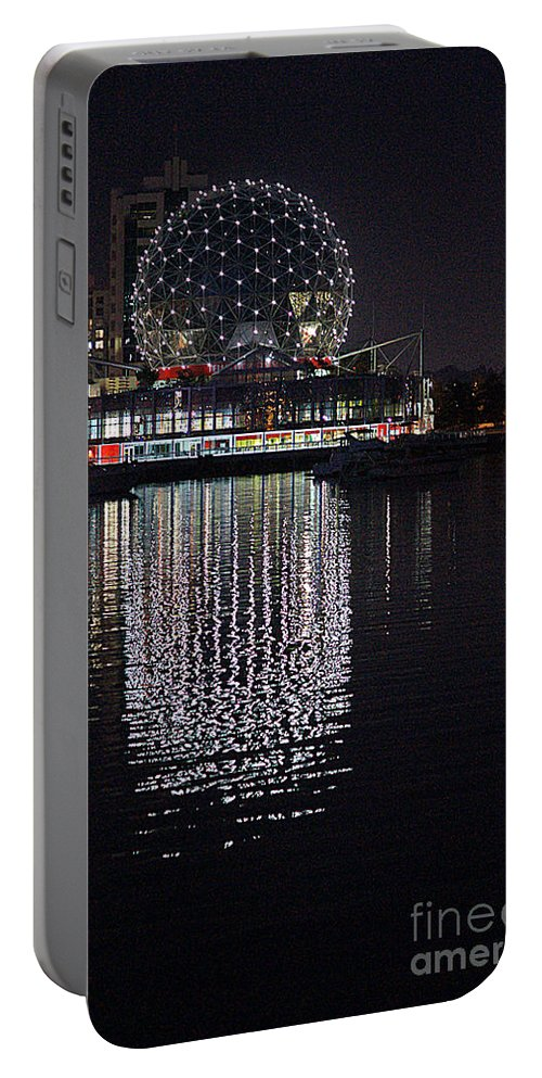Vancouver Portable Battery Charger featuring the photograph Silver Reflections by Randy Harris