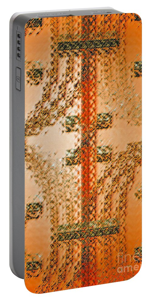 Orange Portable Battery Charger featuring the photograph Simple Complexiites by Gwyn Newcombe