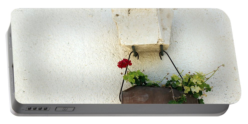 Rose Portable Battery Charger featuring the photograph Simply Red by Munir Alawi