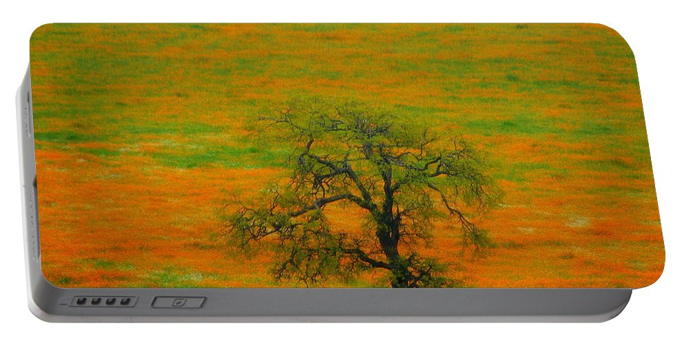 Single Portable Battery Charger featuring the photograph Single Tree by Susanne Van Hulst