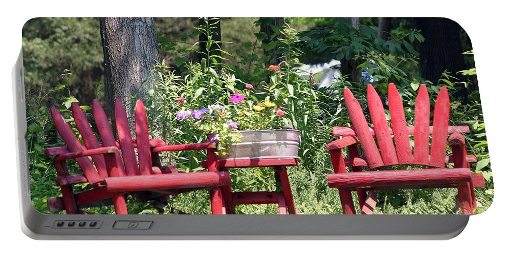 Scenic Portable Battery Charger featuring the photograph Sit For Awhile by Living Color Photography Lorraine Lynch