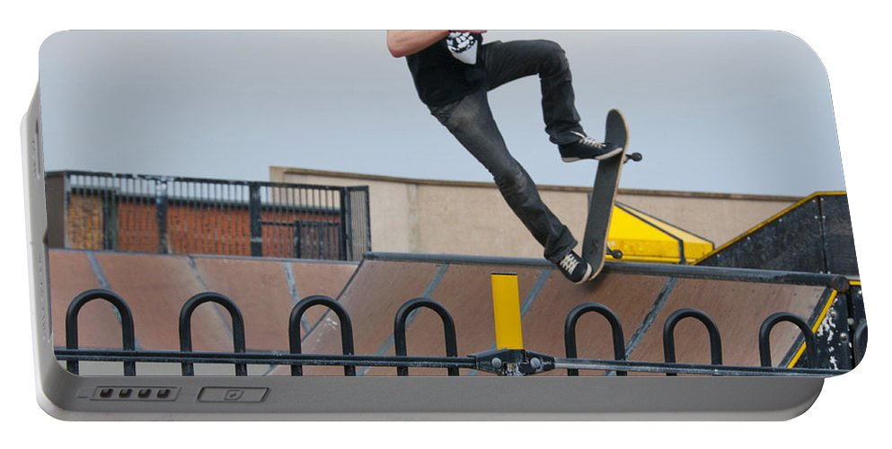 Skate Board Portable Battery Charger featuring the photograph Skateboarding Ix by Sheila Laurens