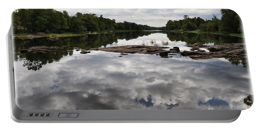Reflection Portable Battery Charger featuring the photograph Sky In The Water by Cheryl Baxter