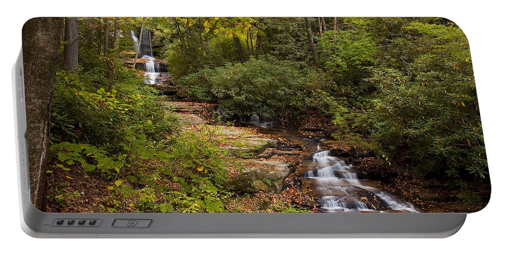 Stream Portable Battery Charger featuring the photograph Small Stream by Amy Jackson