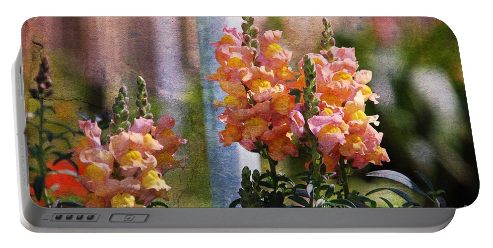 Snapdragons Portable Battery Charger featuring the photograph Snapdragons by Susanne Van Hulst