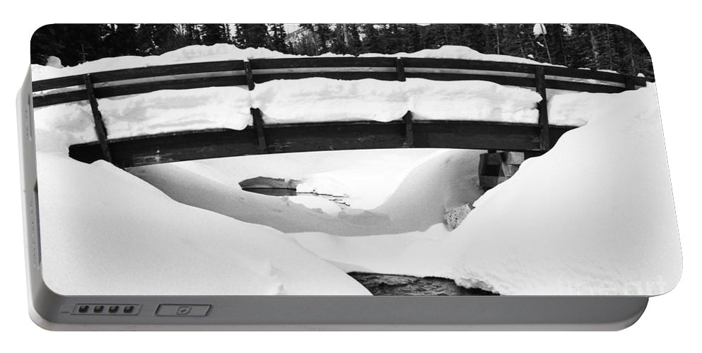 Alberta Portable Battery Charger featuring the photograph Snow Bridge In Canadian Rockies by Darcy Michaelchuk
