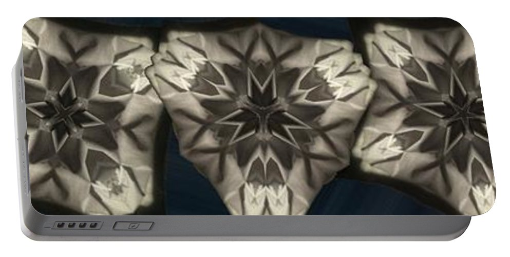Collage Portable Battery Charger featuring the digital art Snowflakes by Ron Bissett