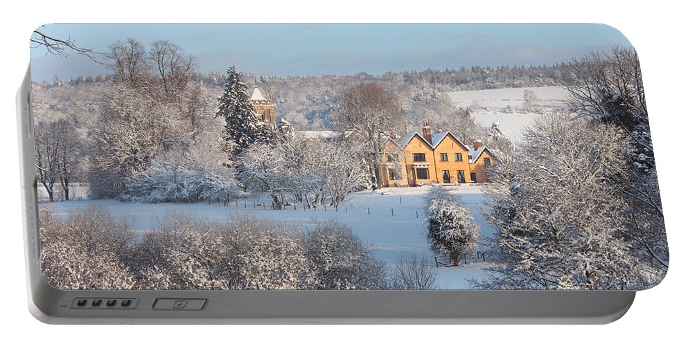 Landscape Portable Battery Charger featuring the photograph Snowy Scene In England by Mark Taylor