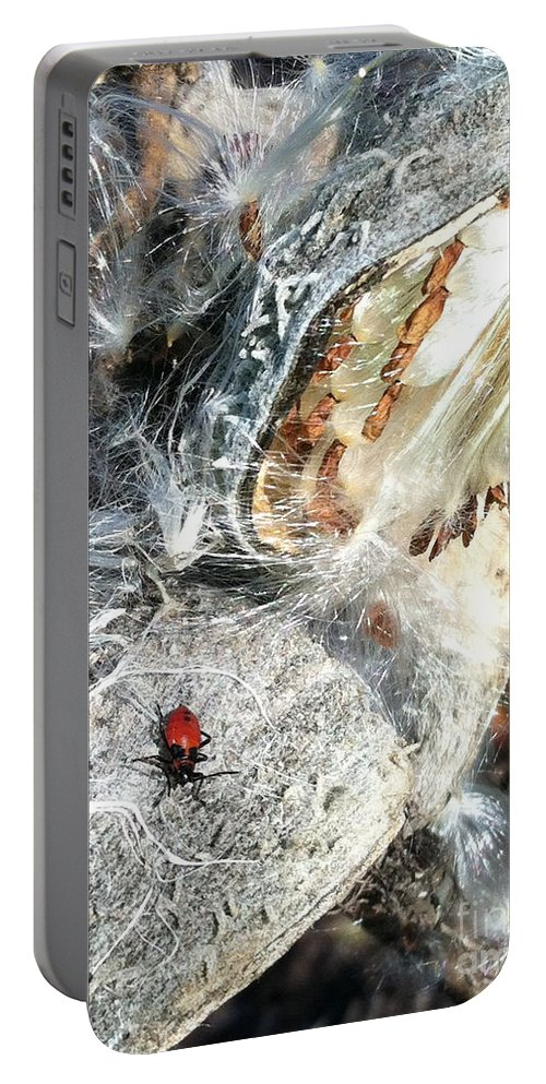 Leaves Portable Battery Charger featuring the photograph Soaking In The Sun by Trish Hale
