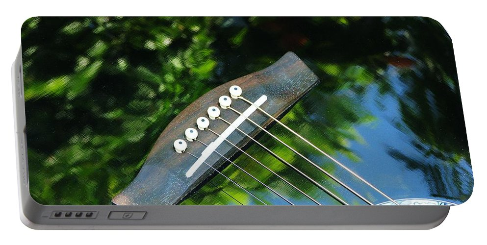 Abstract Portable Battery Charger featuring the photograph Sound Of Nature by Patricia Blake